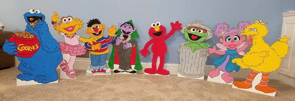 sesame street cut outs