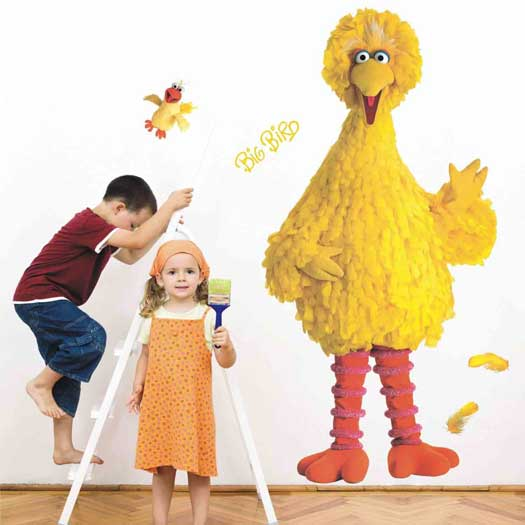 sesame street wall decals big bird