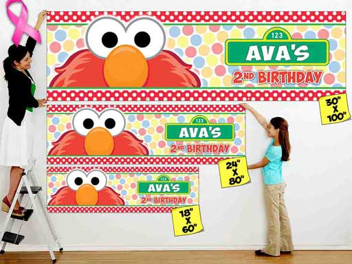 personalized sesame street banner