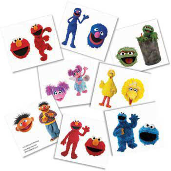 sesame street temporary tattoos