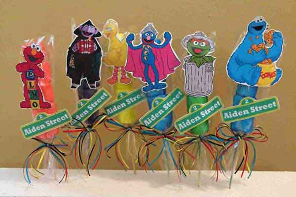 sesame street party favors marshmallows
