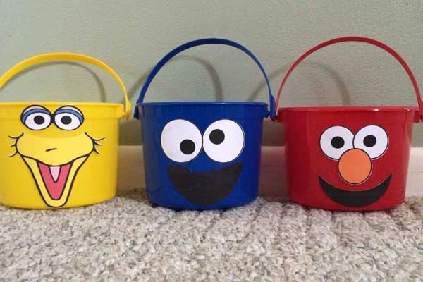 sesame street treat pails