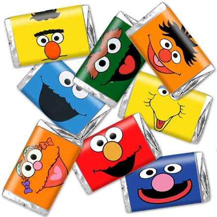 sesame street candy wrappers