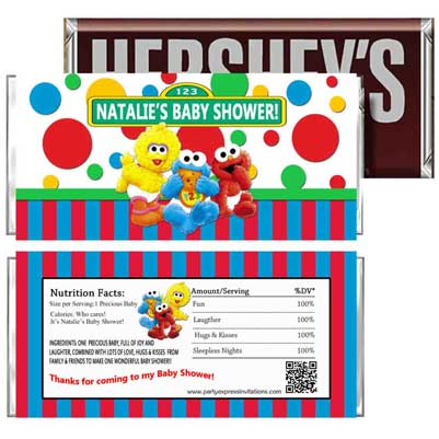 sesame street personalized wrappers