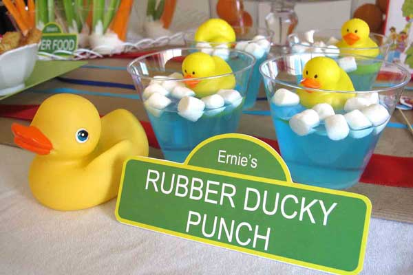 ernie's rubber ducky jello cups