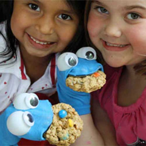 sesame street crafts cookie monster sock puppet
