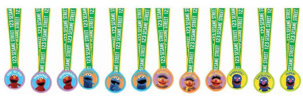 sesame street medals