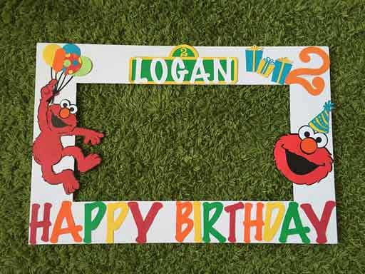 Sesame Street Photo Booth frame