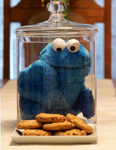 cookie monster with cookies