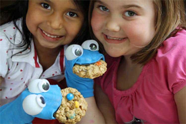 sesame street crafts cookie monster sock puppet