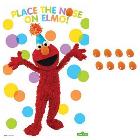 elmo pin the nose on game