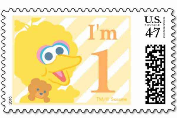 sesame street postage stamps