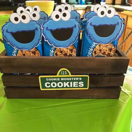 sesame street cookie monster party food