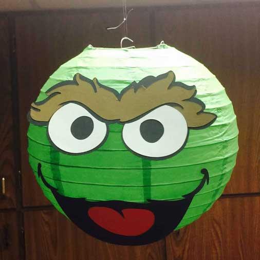 sesame street paper lanterns oscar