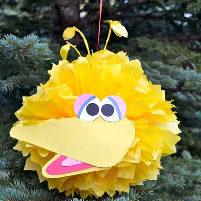 sesame street tissue poms big bird