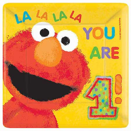 elmo 1st birthday party plates