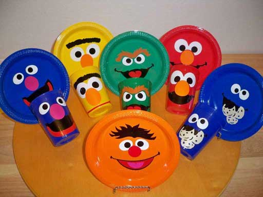 sesame street party plates