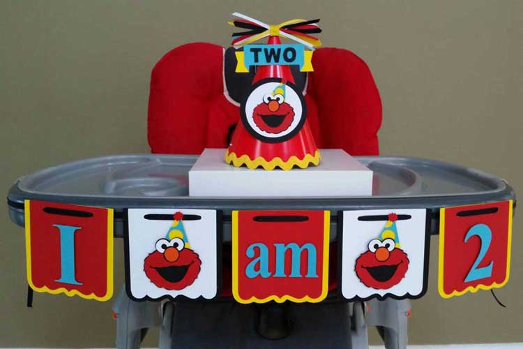 sesame street high chair decorating kit