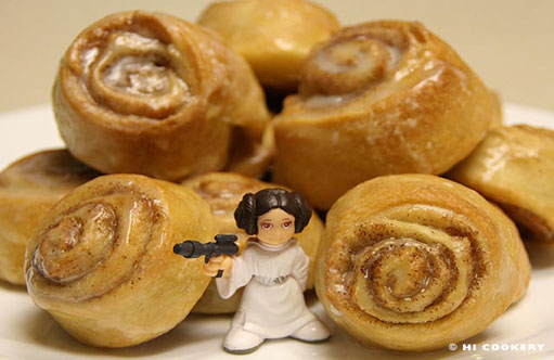 star wars party food princess leia danish