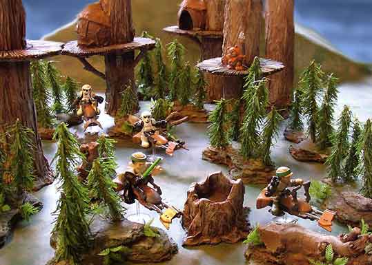 star wars party ideas endor ewoks