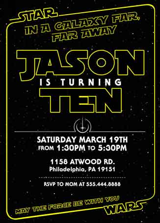 beautiful star wars party invitation and 44 star wars birthday invite wording