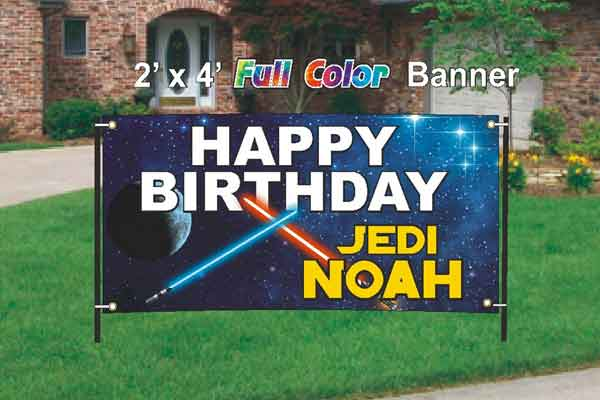 personalized star wars yard sign