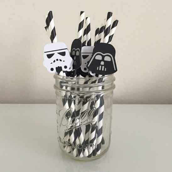 star wars party straws