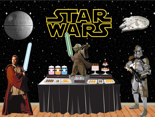 star wars dessert table
