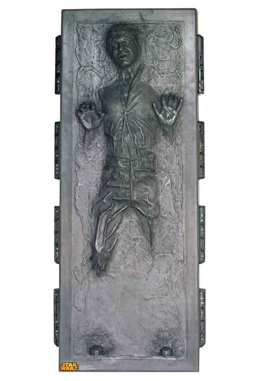 star wars stand up han solo in carbonite