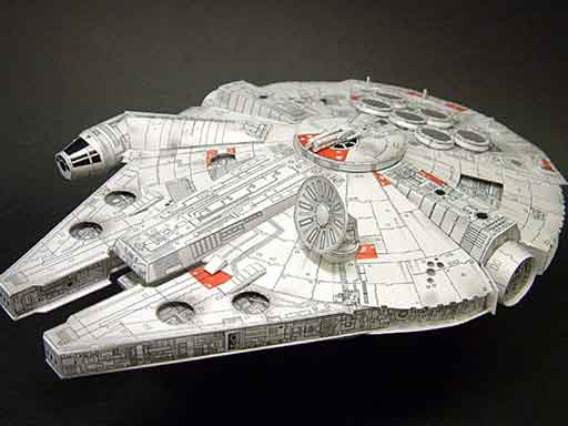 star wars papercraft millenium falcon
