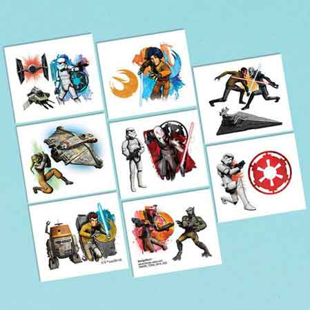 star wars party favors temporary tattoos