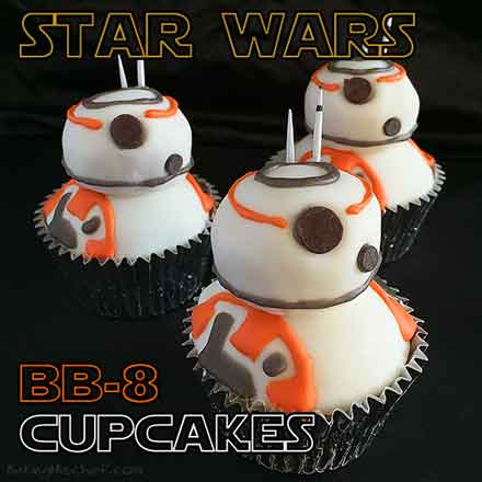 star wars cupcakes bb8