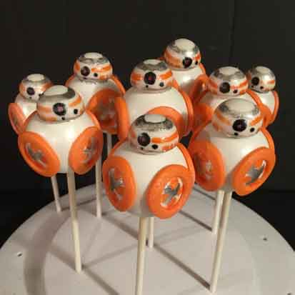 star wars cake pops bb8