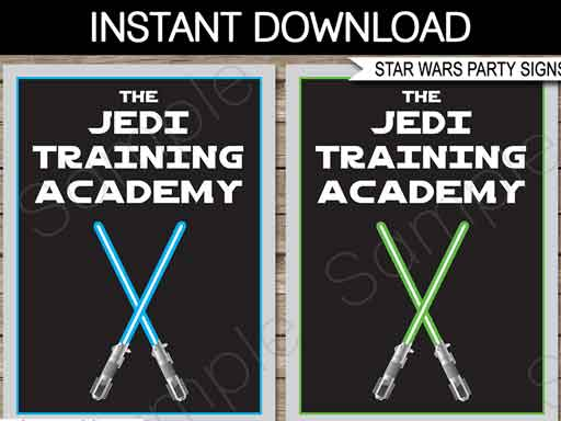 jedi training academy printable signs