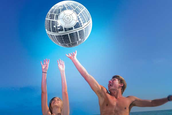 inflatable death star beach ball