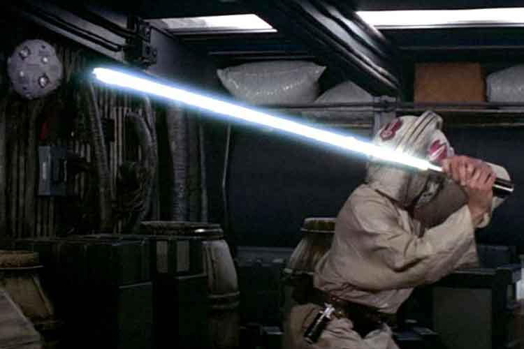 star wars lightsaber training