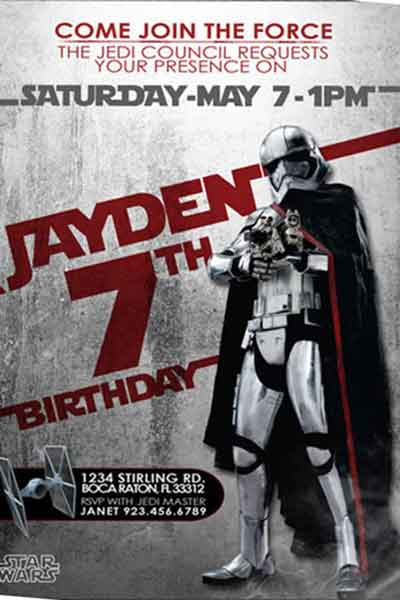 Star Wars Birthday Party Invitation