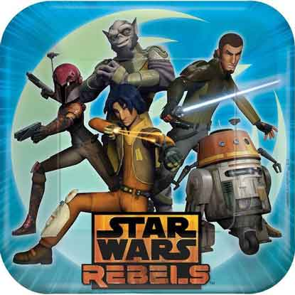 star wars rebels party plates