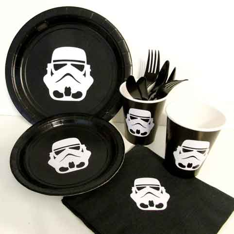storm trooper party plates