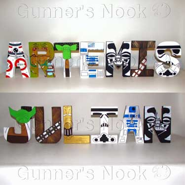 star wars centerpiece paper mache letters