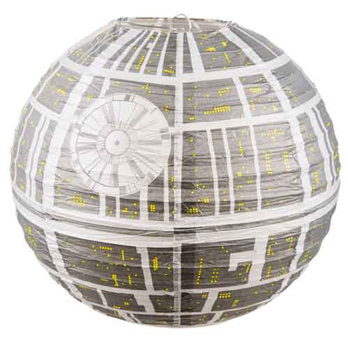 death star paper lanterns