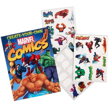 comic book stickers
