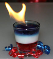 red white and blue shooters