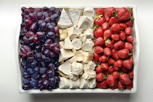 french flag made of food